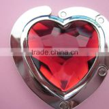 Crystal Heart of Ocean Heart Shape Folded Metal Table Top Bag Hanger