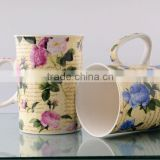 mug with beautiful flower design