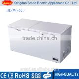 Double Solid Two Door Low Noise Deep Fridge Refrigerator Chest Frozen Freezer have factory price