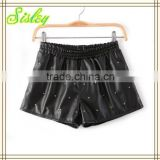 Women Wear Casual Ladies Shorts With Mandarin Orange