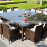 Simple used hotel patio furniture outdoor dinner table rattan philippine dining table set