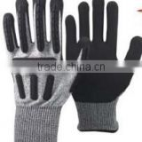 anti-cut high impact resistant TPR glove,Cut level 5