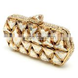 manufacturer sell beautiful yellow triangle evening clutch bag