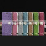 china supplier Flower button Bling wallet leather stand case For xiaomi Mi4