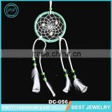 Beautiful Chicken Feather PU Leather Enwind Fashion Net Wood Beads handmade Dream Catcher