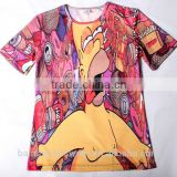 OEM service china supplier dye sublimation shirts wholesale/quick dry sublimation printed t shirts