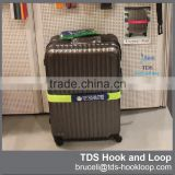 customized custom logo hook and loop luggage strap