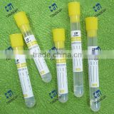 Non Vacuum Blood Collection Tube with yellow top