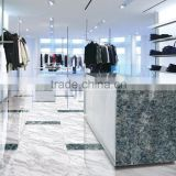 Customized glass display cabinet Onyx marble type tiles Digital printing agate glass slabs for store decoration