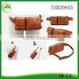 Men Oil Wax Genuine Leather Vintage Hip Chest Belt Waist Purse Clutch Bag Leather Fanny Pack