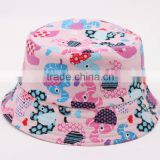 2016Amazing New Cute Kids Girl Baby Summer Outdoor Bucket Hats Cap Sun Beach Beanie Hot FH-175