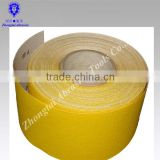high quality white corundum yellow sand paper roll for decorating, nail file ,foot fail,painting
