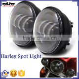 "BJ-HL-011 Customized Waterproof Black Auxiliary 4.5"" LED Motorcycle Spot Fog Passing Light for Harley Davidson"