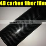free sample wholesale glossy black 4d carbon fiber vinyl car sticker with air free bubble 152cmx30m