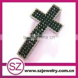 G70 newest green crystal cross religious pendant