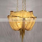 Luxury decorative brass chain lights for home