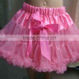 Wholesale beautiful tutu tulle ,pink pettiskrit with bow for girls
