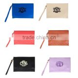 Monogrammed Scallop Wallet Clutches