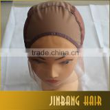 Lace Front Wig Cap Base for Making Wigs with Adjustable Strap Half Machine Made Half Hand Made