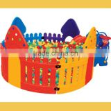 2016 kids plastic ball pool with stairs/large plastic swimming pool/indoor plastic ball pool for sale