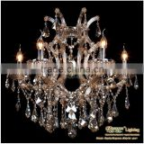 2013 Amber Crystal Glass Beads Lighting Candle Holders Chandelier Light Fixtures MDS40-L6