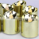 gold flameless votive christmas candles battery incluede flickering led tealight