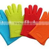 Heat Resistant Silicone BBQ Gloves, Silicone Kitchen Gloves, Silicone Cooking Gloves, Silicone Oven Gloves