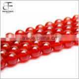 Natural Red Agate Fire Quartz Gemstone Gem Round Loose Beads Strands for Jewelry Making 4-18mm