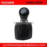 YUCHEN Car Shift Gear Knob With Leather Boot For Skoda Octavia II A5 MK2 2004-2010 Car Shift Knob With Passat B7