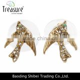 Fashion jewelry fashion gold plated earring animal latest gold earrings unique gold hanging earring