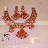 Designer Exclusive Indian Costume Fashion Imitation Jewellery ~ Artificial Gold Kundan Bridal Jewelery ~Gemstones, Pearl Jewelry