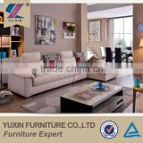 China foshan home furniture colorful stripy pillow white sofa,living room furniture l shape sleeper sofa
