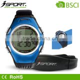 isport wristband heart rate monitor with comfortable chest belt waterproof OEM logo printing