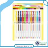 12PCS wonderful color gel pen for office color gel ink pen pack stationery                                                                         Quality Choice