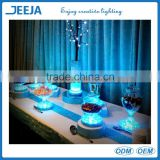 Plastic Column Wedding Decoration Material LED Lighting Cristal Cake Stand For Weddings