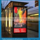 Bus Station Backlit Advertising Outdoor Light Box 3000x1000 MM