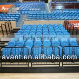portable,removable arena anti-aging retractable stadium chair,retracted gymnasium seating for public sports