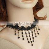White Black Lace Necklace Chain Collar Bib Wedding Bridal Choker Lolita Gothic                                                                         Quality Choice