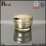15/30/50g aluminum luxury gold neck ring acrylic jar cream use skin care hot stamping