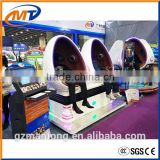 2016 Crazy hot 360 degree rotation 9D VR Cinema/vr headset system in park/9D Egg VR Cinema 3 Blue Seats Cinema Simulator