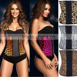 HOT Sale Waist Training fajas shapewear Corset Hot Girls Sexy latex leopard Corset