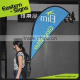 Advertising promotion backpack feather flag sublimation backpack