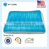 Butterfly wave shape cool gel memory foam pillow GM-01