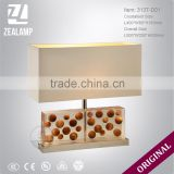 DIY Wooden Ball Resin Luxury Unique Amber Table Lamps Modern Hotel Table Lamp