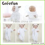 2016 winter baby romper kids hooded romper Christmas toddler cute romper animal shape jumpsuits