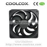 CoolCox 120x120x25mm PC case cooling fan,12025 Axial fan,Chassis exhaust fan,12025 axial flow fan