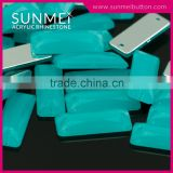 Free Sample Loose Mint Green Color Baguette Plastic Diamond Accessories for Bag