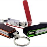 hot selling leather usb 2.0 flash memory disk with full color printing