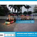 Trackless Train Rides for sightseeing/Kids electric amusement trackless train ride for sale