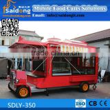 2016 Made in china affordable and practical mobile cart food/food trailer used/food service cart with wheels